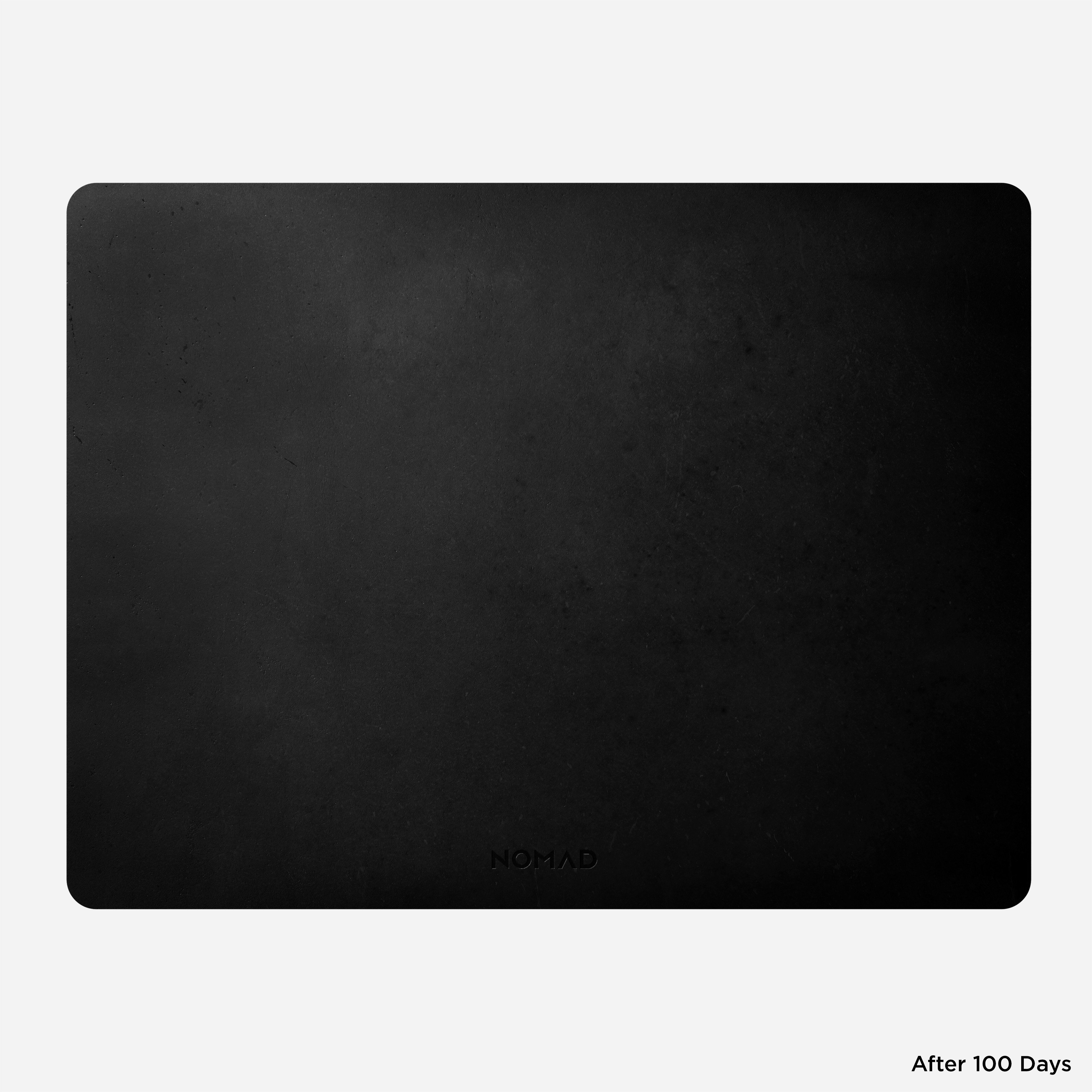 Horween Leather Mousepad Black 16-inch Front