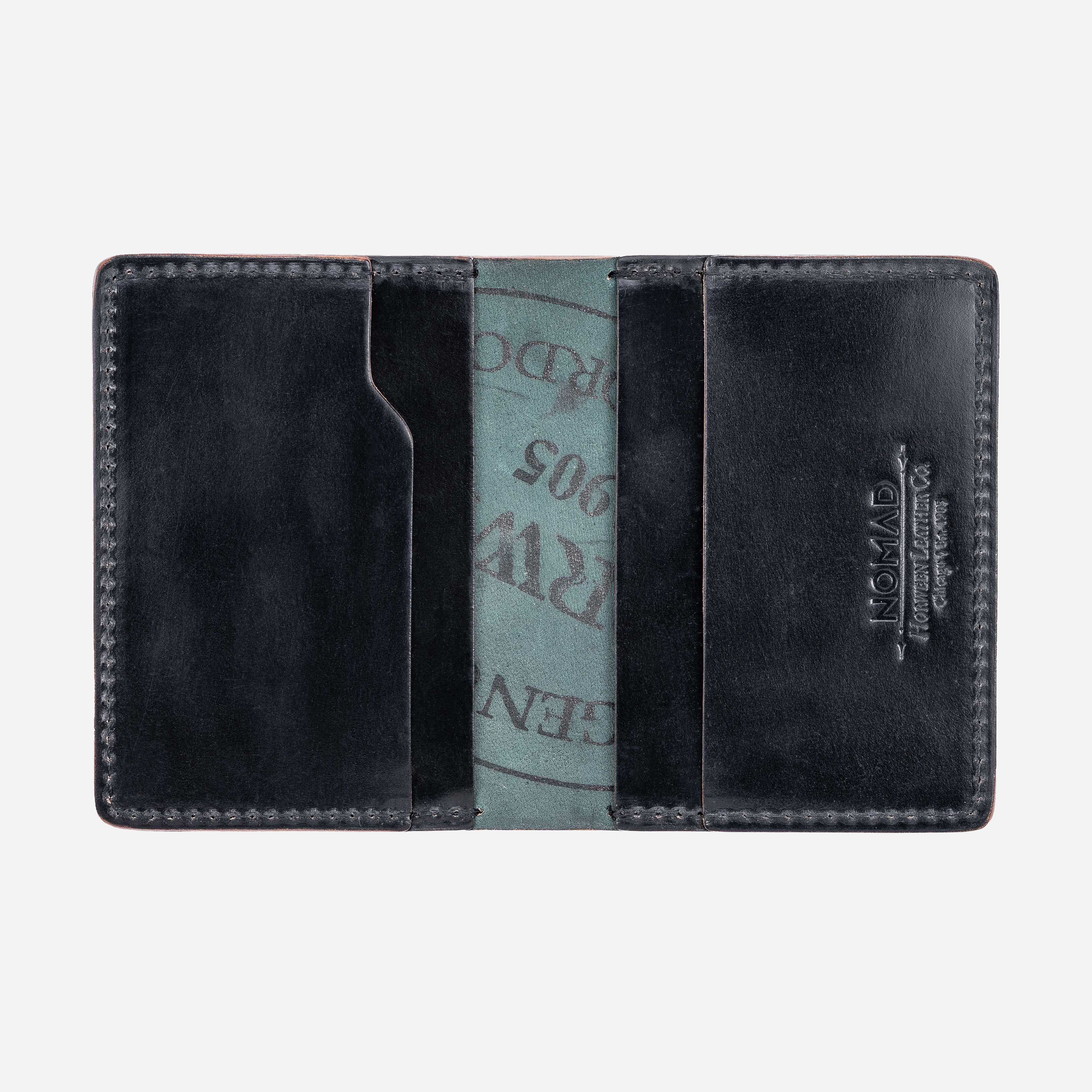 Shell Cordovan Black Leather Wallet