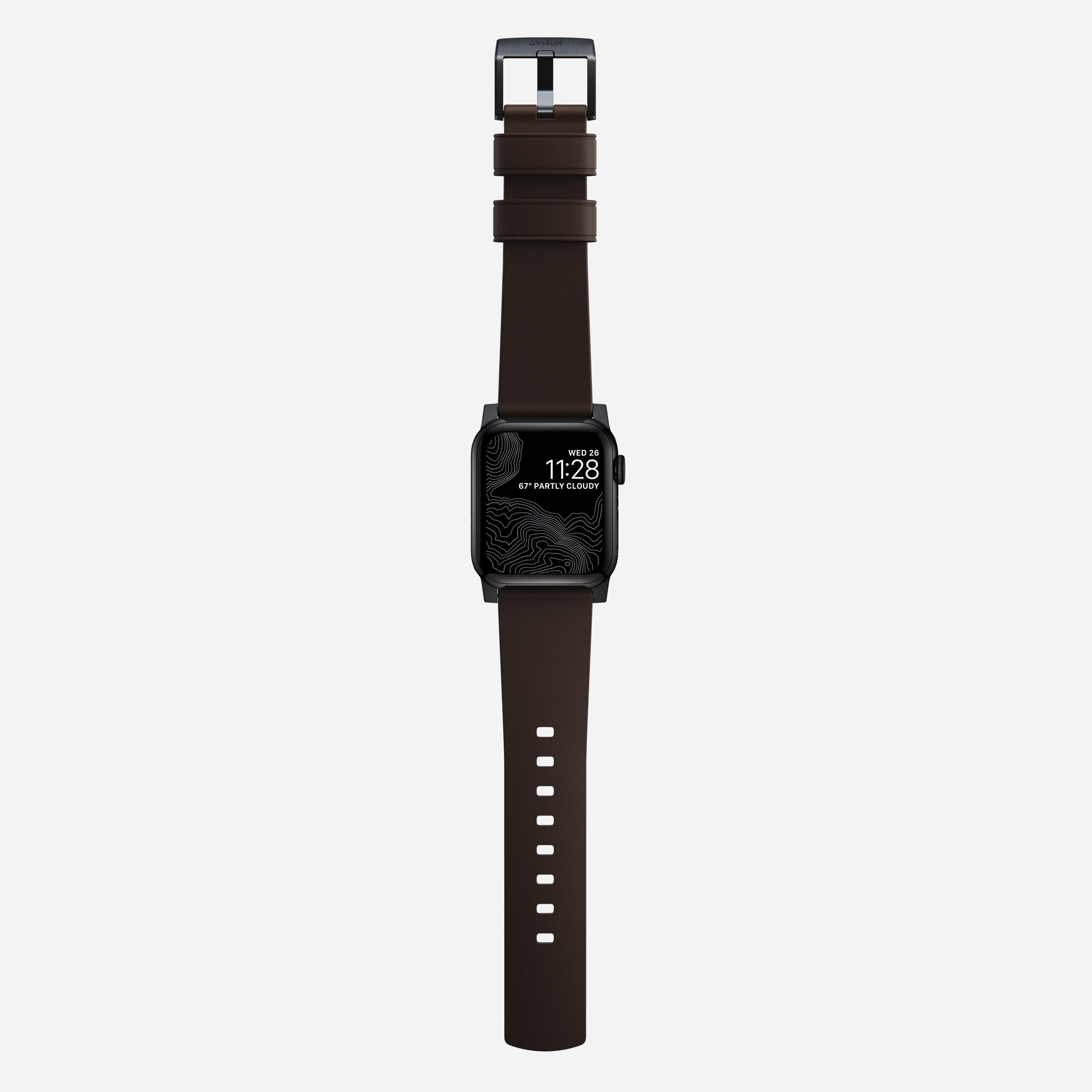 Active strap pro heinen leather classic brown black hardware
