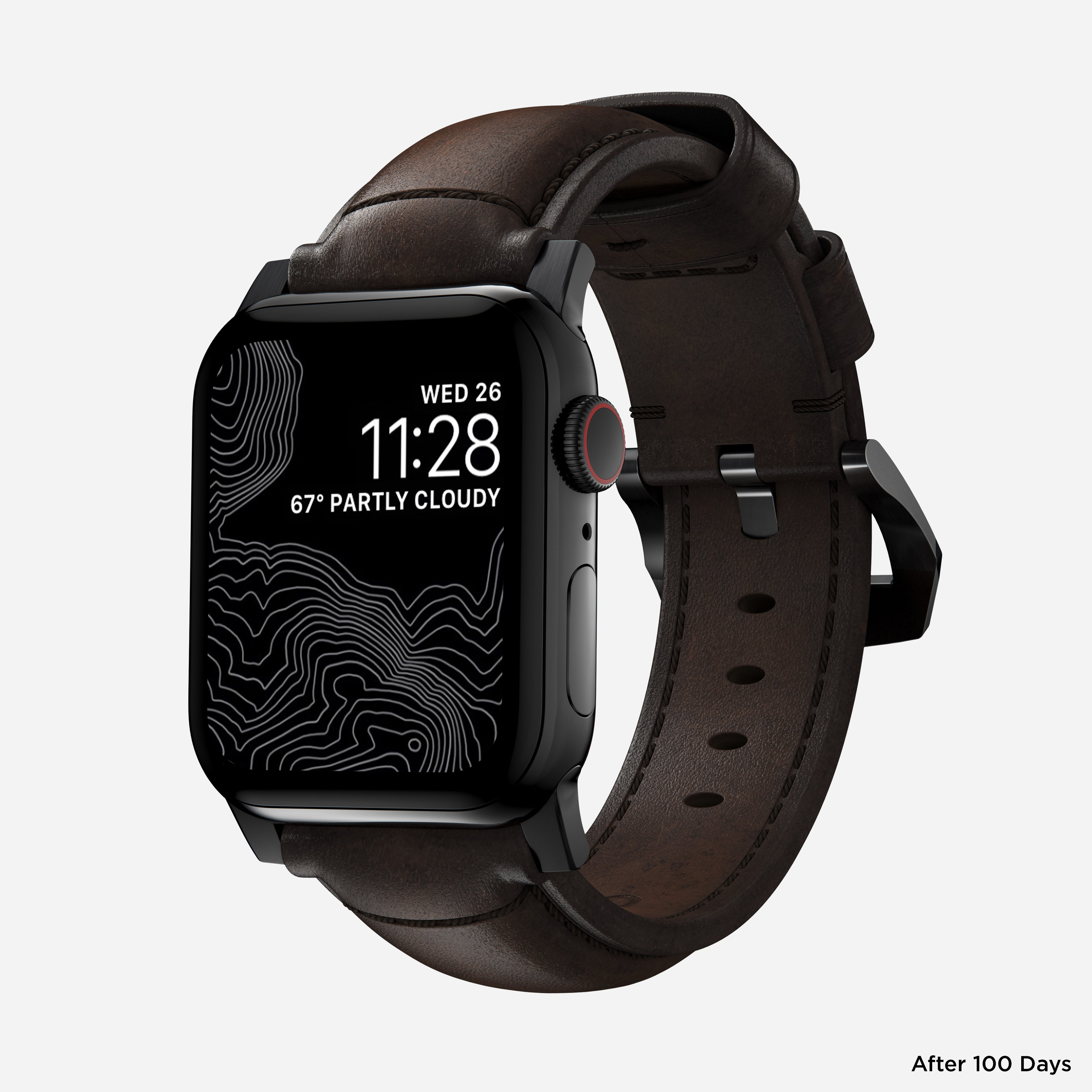Traditional strap rustic brown black hardware 40mm