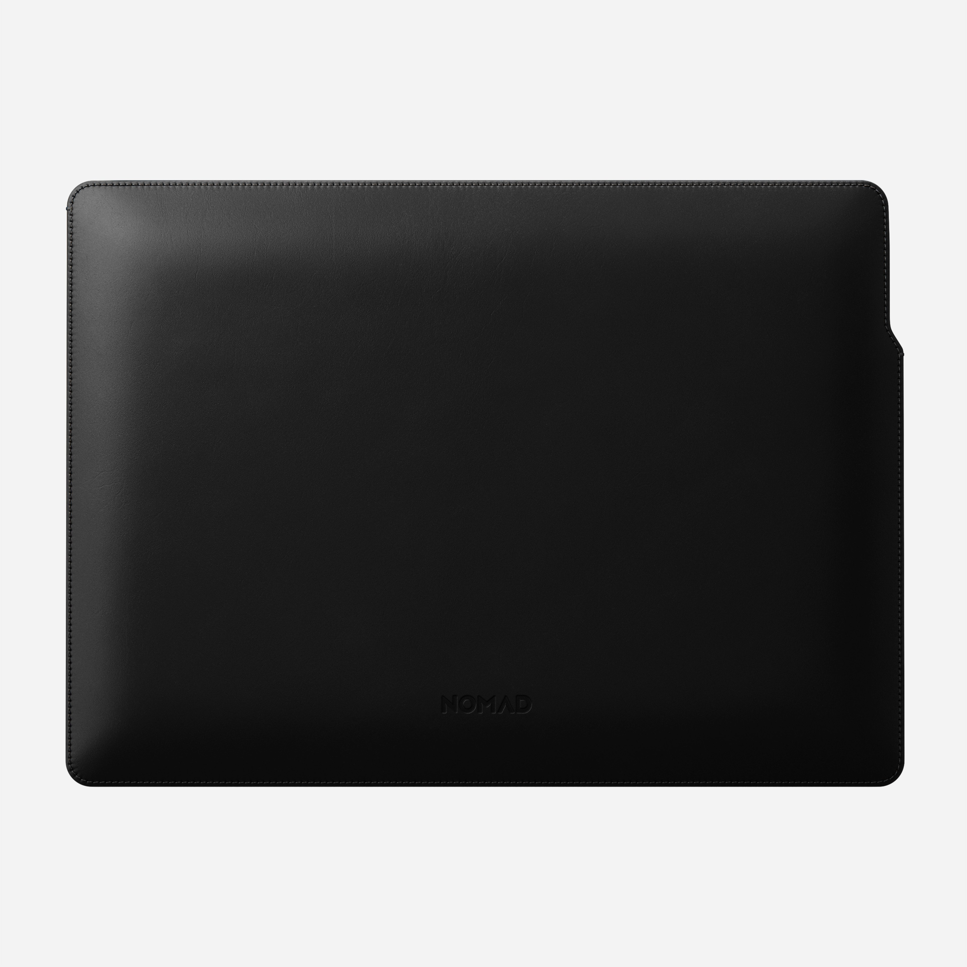 MacBook Pro Laptop Sleeve Horween Leather Front View 16-inch Aged