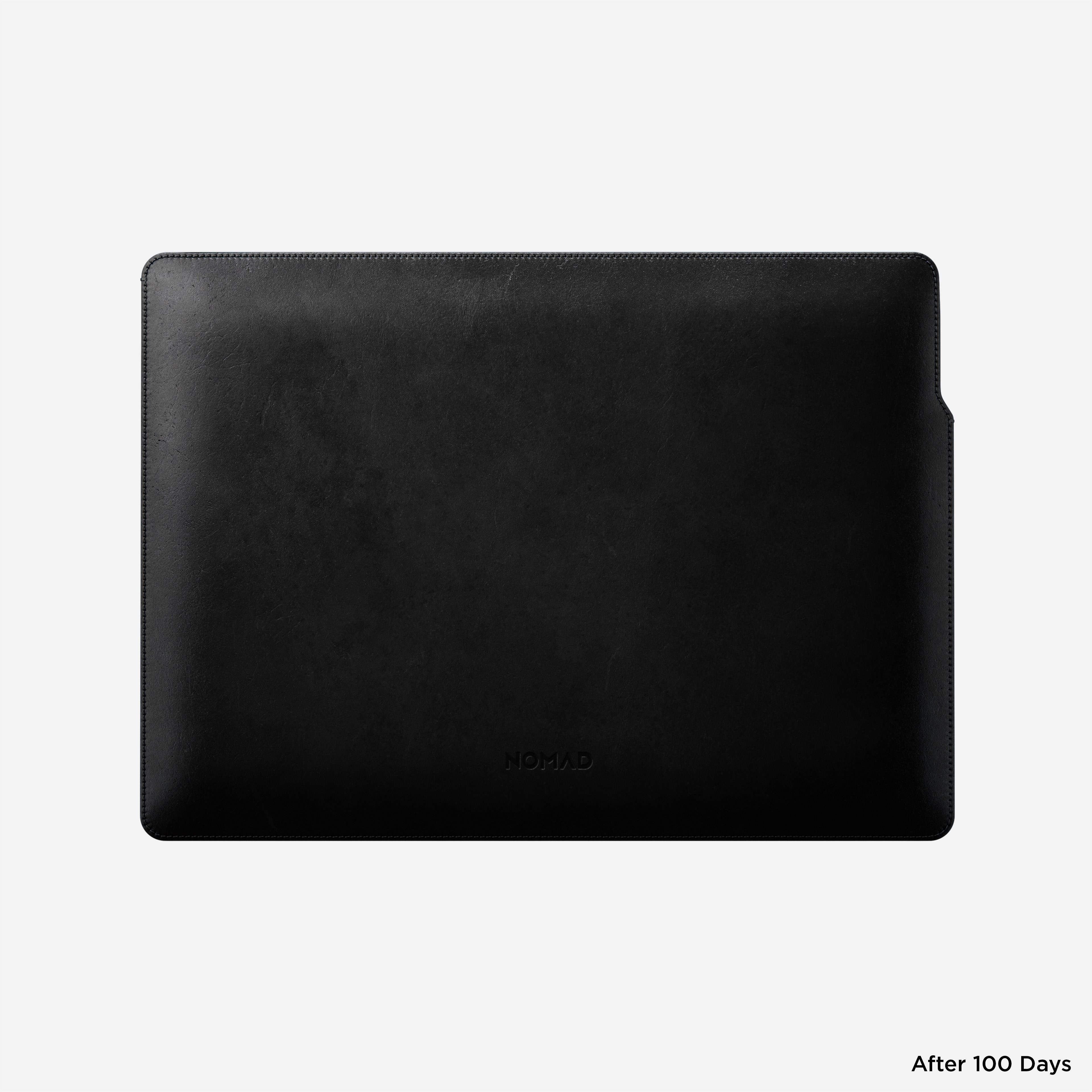 MacBook Pro Laptop Sleeve Horween Leather Back View 13-inch