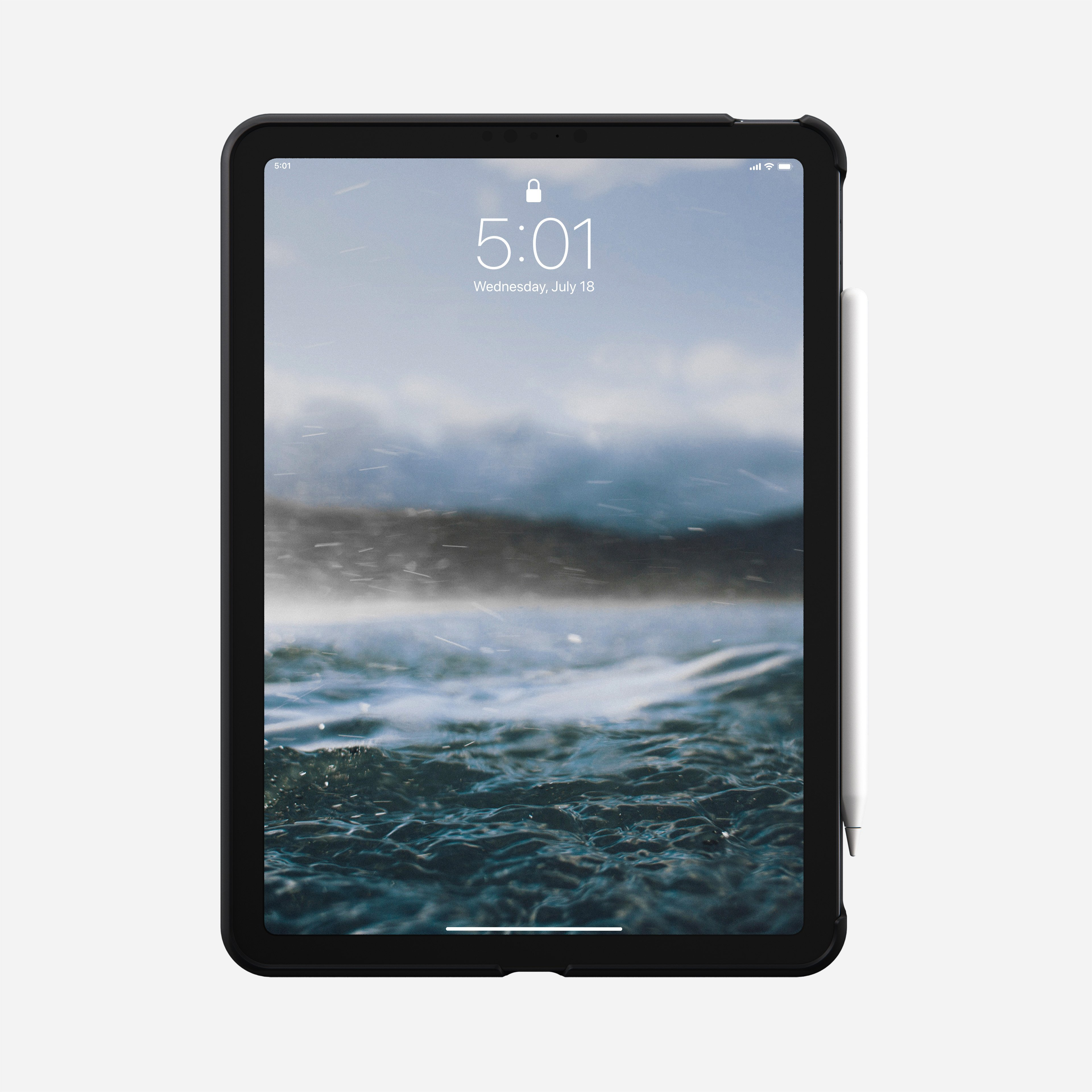 Rugged case horween leather black ipad air 4th generation
