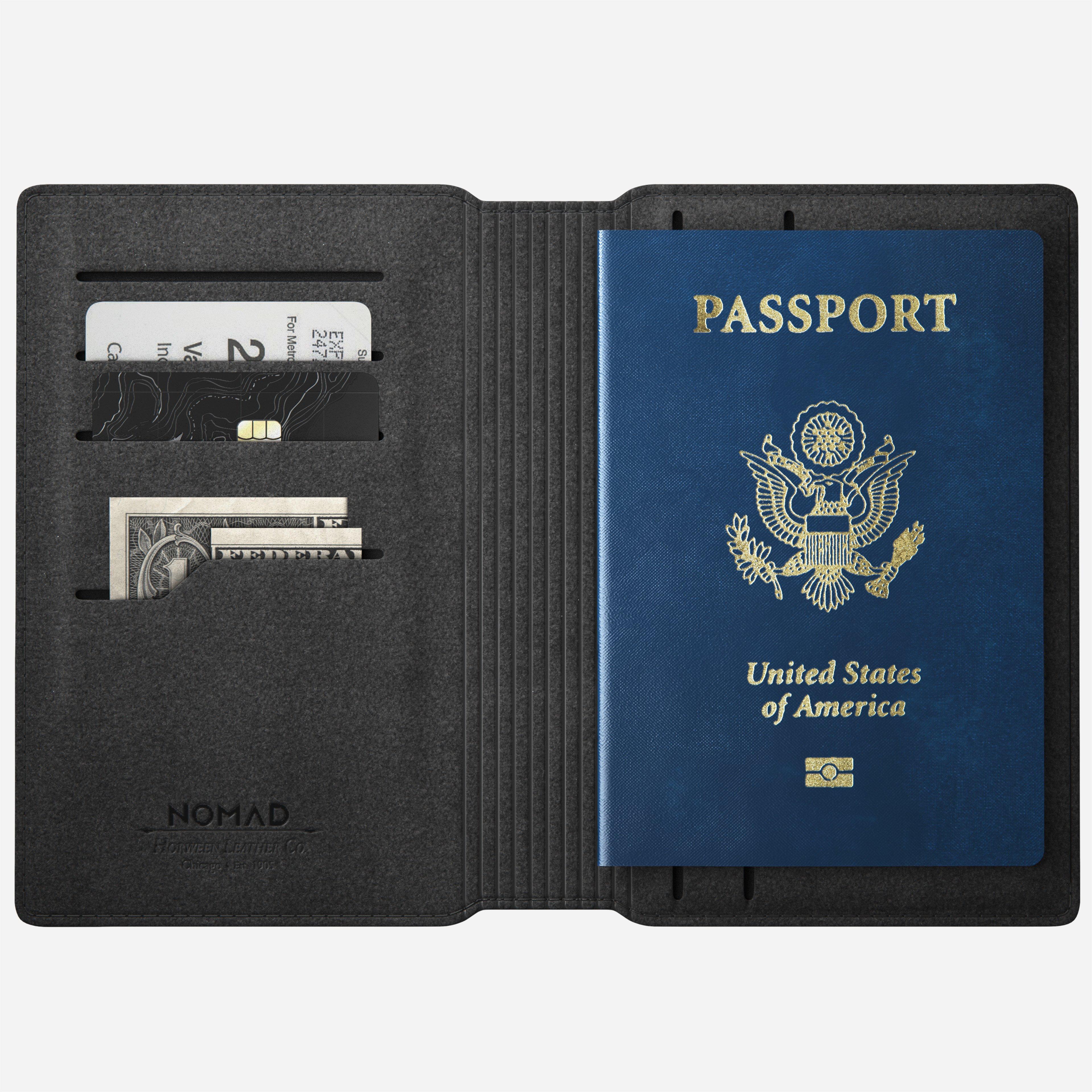 Modern Passport Wallet Rustic Brown