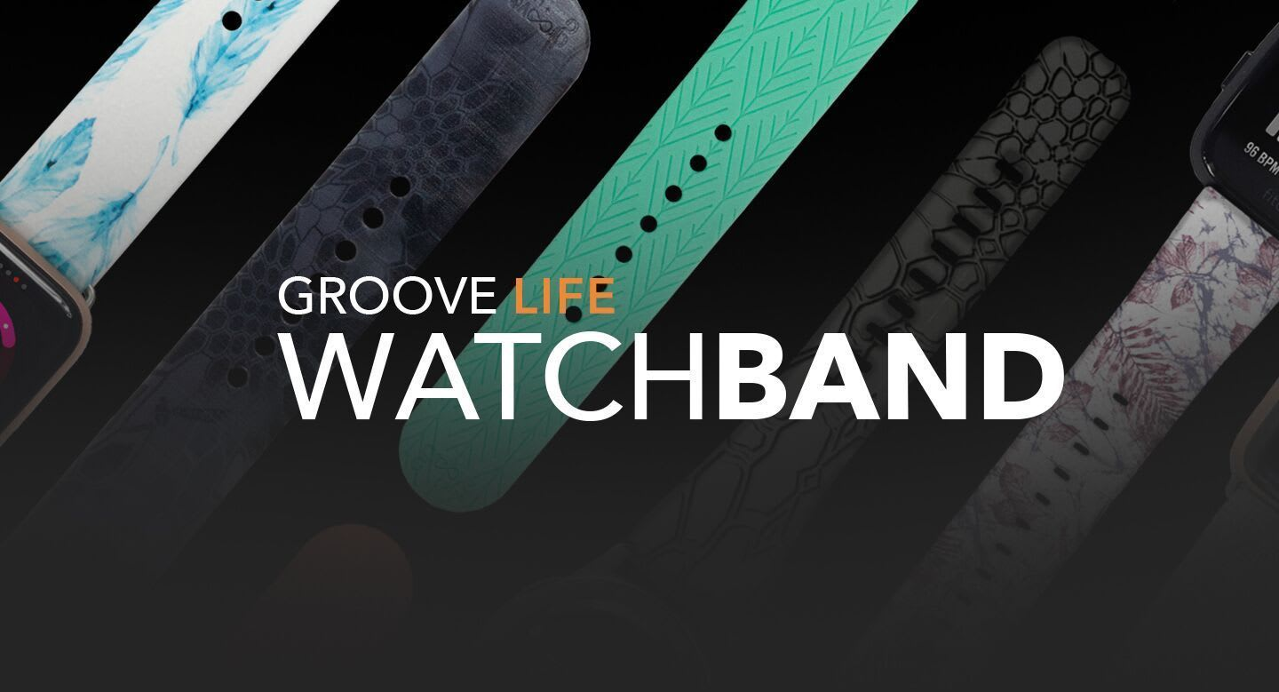 Groove Life Watch Band, multiple watchbands laid out in the background