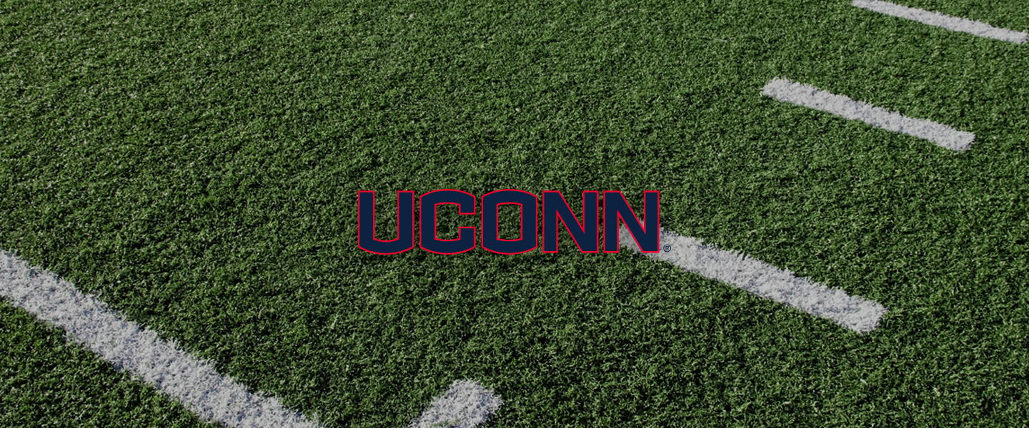 Connecticut logo on football field