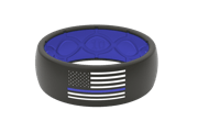 Original Protector Police Blue/White Flag - Groove Life Silicone Wedding Rings