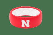 Original College Nebraska - Groove Life Silicone Wedding Rings