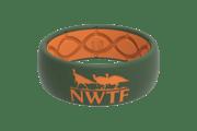 Original NWTF Moss Green Orange Logo - Groove Life Silicone Wedding Rings