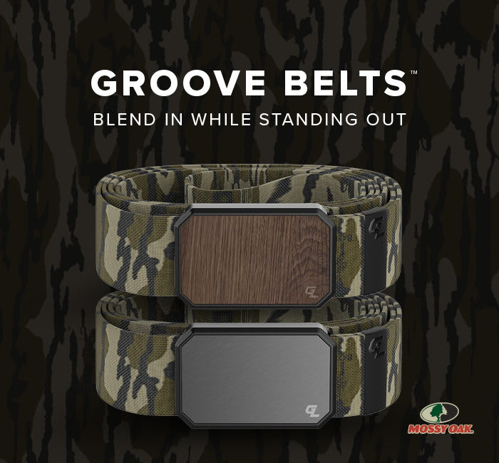 MOSSY OAK BOTTOMLAND GROOVE BELTS- BLEND IN WHILE STANDING OUT