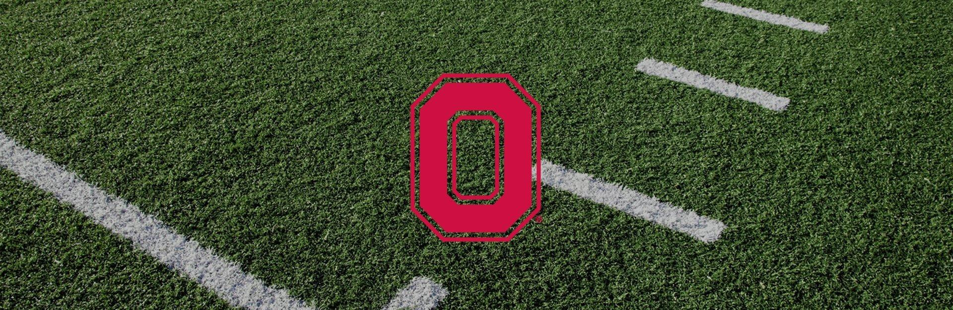 Ohio State logo on football field