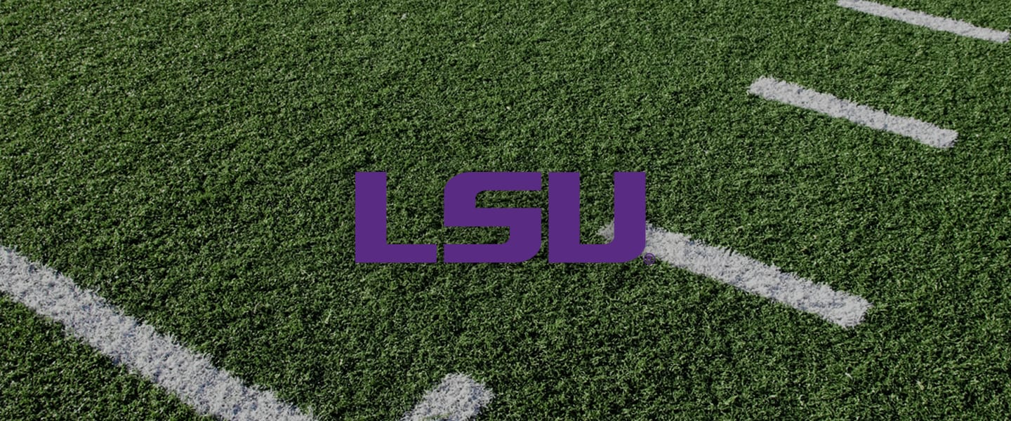 LSU Collegiate Silicone Rings, LSU logo on football field