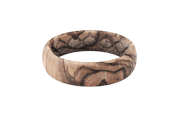 Burled Walnut - Thin - Groove Life Silicone Wedding Rings