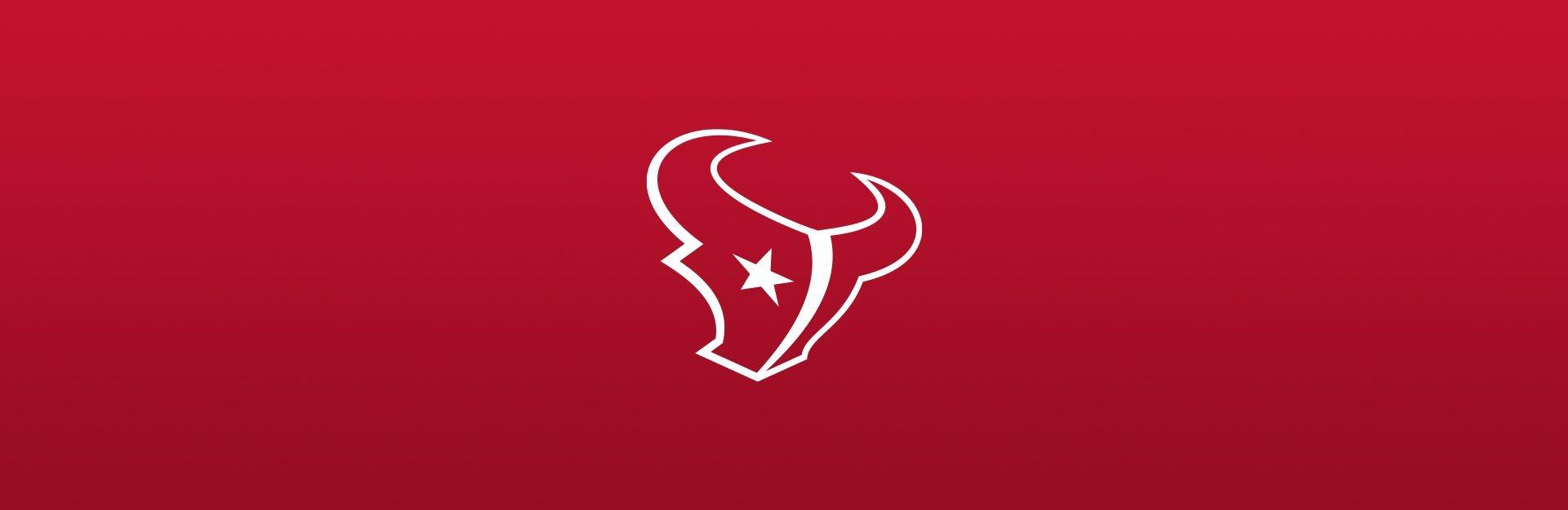 Houston Texans logo on red background