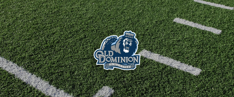 Old Dominion logo on football field