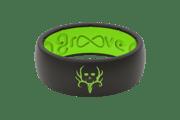 Original Bone Collector Midnight Black/Green - Groove Life Silicone Wedding Rings