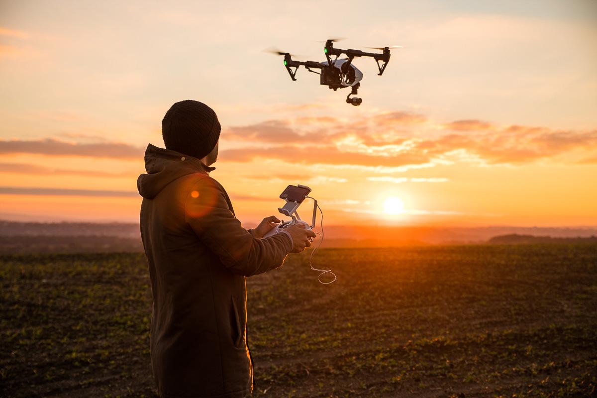 Fotógrafo aéreo o drones