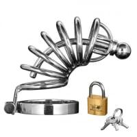Porduct image for Asylum 6 Ring Locking Chastity Cage