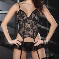 Porduct image for Corsetti Eithne Black Basque Set