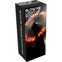 Porduct image for Blow Me Light Up Pocket Fan Black