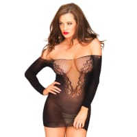 Porduct image for Leg Avenue Off The Shoulder Seamless Minidress UK 8 to 14