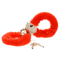 Porduct image for Toy Joy Furry Fun Cuffs Red Plush