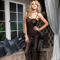Porduct image for Leg Avenue Open Crotch Opaque Bodystocking