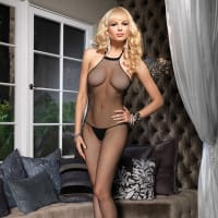 Porduct image for Leg Avenue Seamless High Neck Halter Bodystocking