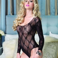 Porduct image for Leg Avenue Bow Lace Teddy