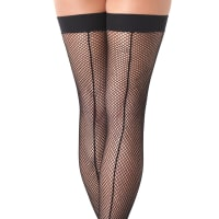 Porduct image for Black Fishnet Stockings with Seem