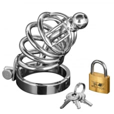 Buy Asylum 4 Ring Locking Chastity Cage Online