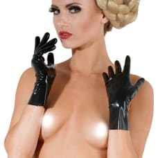 Buy Short Black Latex Fetish Gloves Online