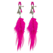 Buy Fetish Fantasy Series Cerise Fancy Feather Clamps Online
