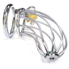 Buy Rouge Stainless Steel Chasity Cock Cage With Padlock Online