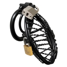 Buy Opening Metal Male Chastity Device With 2 Padlocks Online