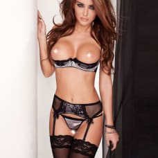 Buy Passion Vela Set with open cup bra and Suspenders Online