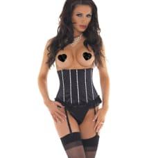 Buy Black Striped Waist Corset Lingerie Online