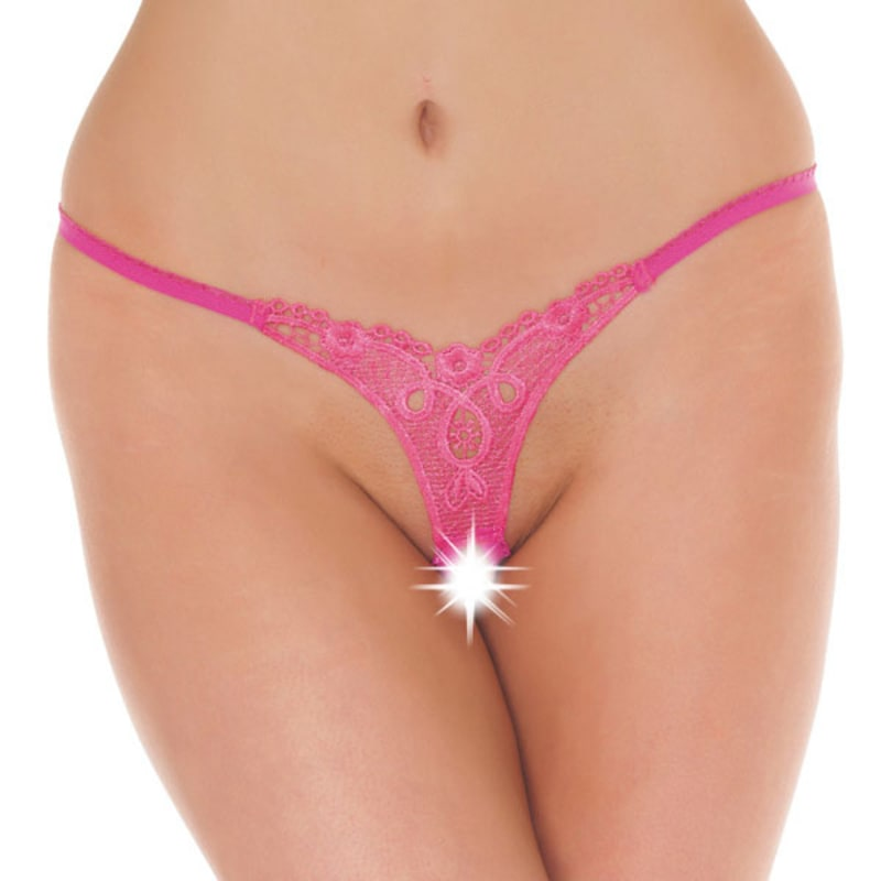Thumb for main image Detailed Crotchless GString Pink
