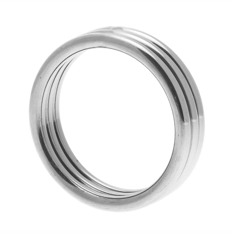Thumb for main image Echo Stainless Steel Triple Cock Ring ML