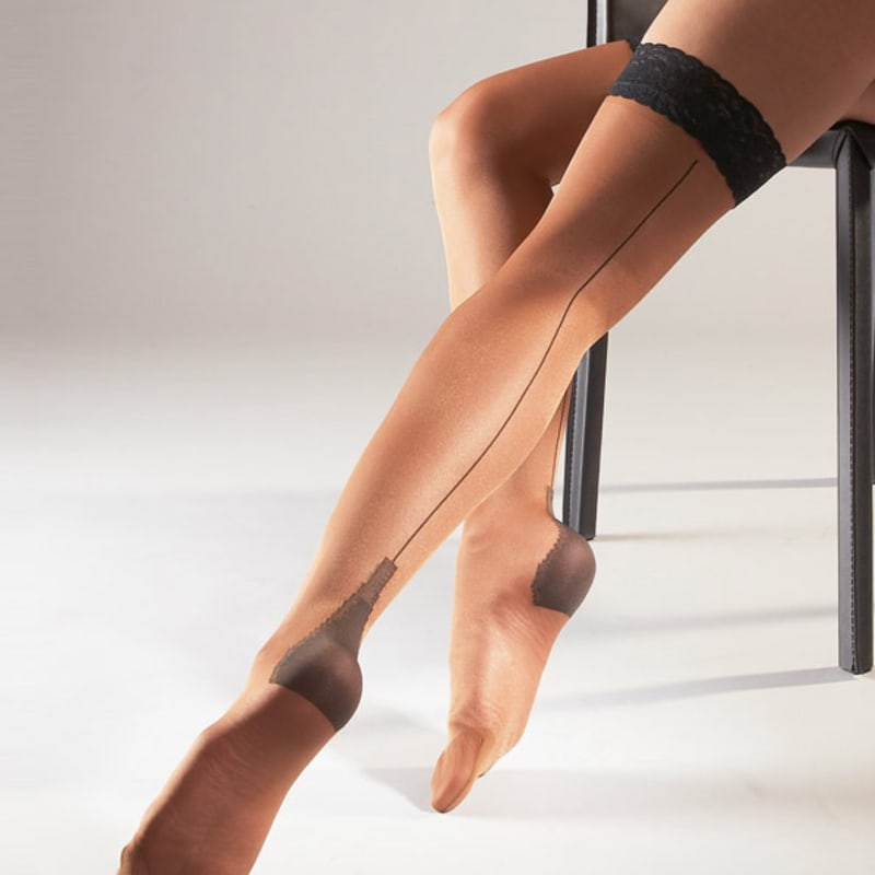 Thumb for main image Stay Ups Seamed Skin Stockings