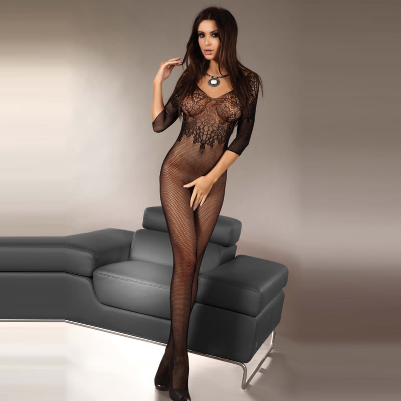 Thumb for main image Corsetti Josslyn Crotchless Body Stocking UK Size 8-12
