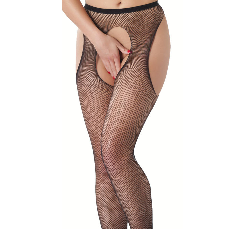Thumb for main image Fishnet Suspender Tights with Open Crotch
