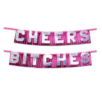 Porduct image for Bachelorette Party Favors Cheers Bitches Party Banner