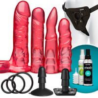 Porduct image for VacULock Crystal Jellies Strap On Harness Dildo Set