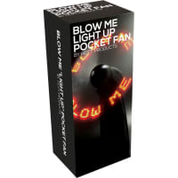 Porduct image for Blow Me Light Up Pocket Fan Black