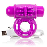 Porduct image for Screaming O Charged OWow Purple Vibrating Cock Ring