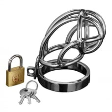 Buy Captus Stainless Steel Locking Chastity Cage Online