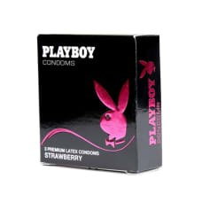 Buy PlayBoy Strawberry Condoms 3 Pack Online