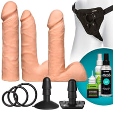 Buy VacULock Dual Density UltraSKYN Strap on Flesh Dildo Set Online