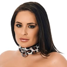 Buy Animal Print Leather Collar Online